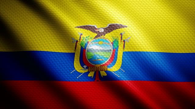 ecuador flag 4k - ecuador stock videos & royalty-free footage