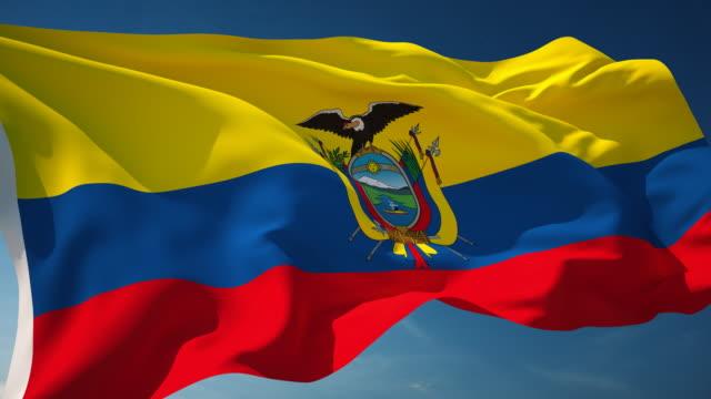 ecuador flag - loopable - ecuador stock videos & royalty-free footage