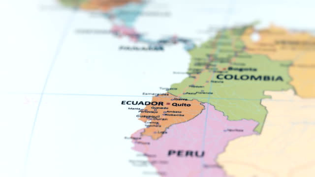 south america ecuador on world map - ecuador stock videos & royalty-free footage