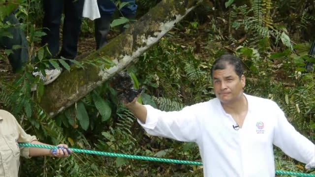 Ecuadoran President Rafael Correa calls for a global boycott of Chevron as part of a campaign to highlight Amazon pollution that Quito has attributed...