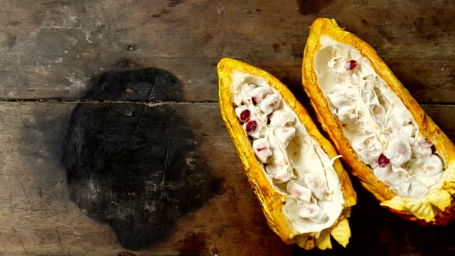 """Ecuatoriano de cacao """"cortado por la mitad de la tabla 1"""
