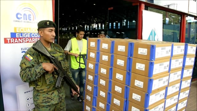 ecuador's national electoral council personnel verify electoral material in the outskirts of quito on wednesda - verification stock videos & royalty-free footage