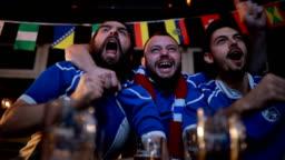 Ecxitement at the bar