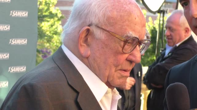 Ed Asner arriving to the Voice Awards at UCLA's Royce Hall in Westwood Celebrity Sightings on Aug 12 2015 in Los Angeles California