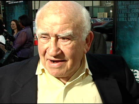 ed asner on paul haggis and on speaking about important issues at the 'crash' los angeles premiere on april 26 2005 - paul haggis stock videos and b-roll footage