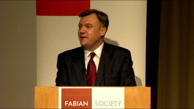 ed balls speech to the fabian society balls speech sot let me finish by returning to the politics because it would be naive for anybody to think that... - politics and government stock videos & royalty-free footage
