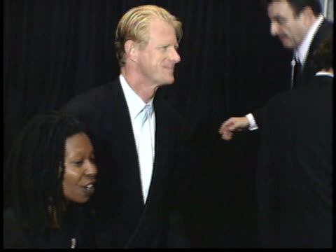 ed begley jr and whoopi goldberg posing for paparazzi on red carpet - friars roast 1993 stock videos and b-roll footage