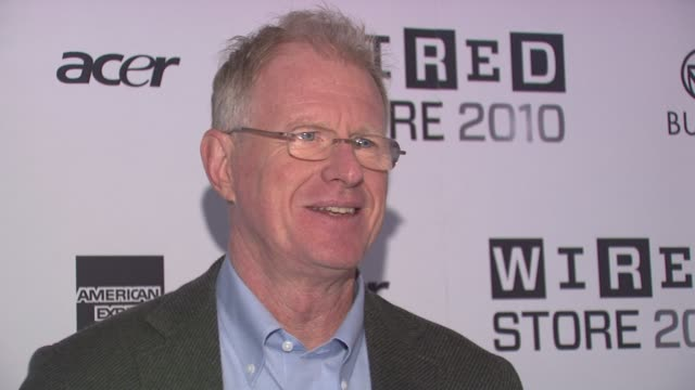ed begley jr at the wired celebrates the 2010 wired store experiential gallery opening in noho at new york ny - l'uomo e la macchina video stock e b–roll