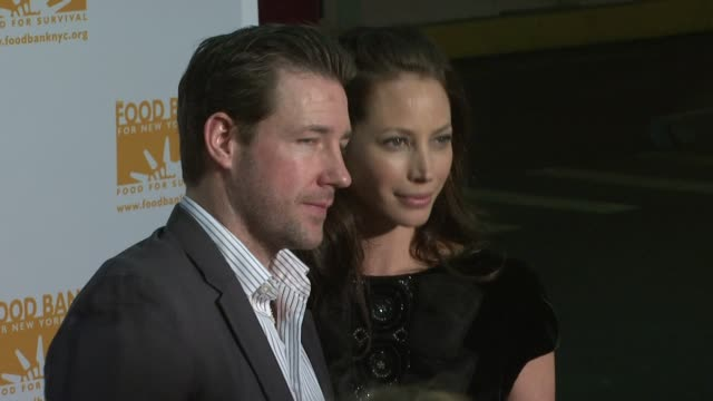 Ed Burns and Christy Turlington at the Food Bank For New York City's 25th Anniversary and 5th Annual CanDo Awards Dinner at Abigail Kirsch's Pier...