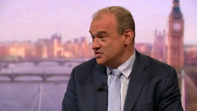 ed davey explaining why he is the best candidate for leader of the liberal democrats - politics stock videos & royalty-free footage