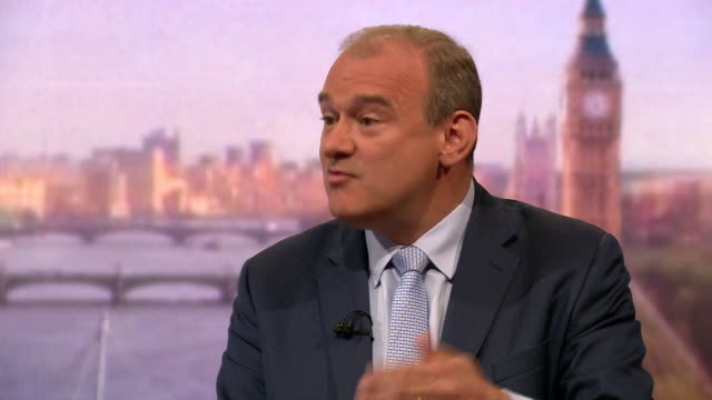 stockvideo's en b-roll-footage met ed davey saying labour party aren't a remain party they're a brexit party still - britse labor partij
