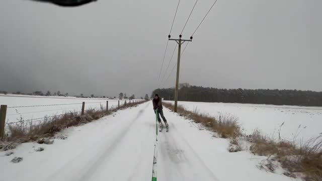 ed foster decided to put the snowy conditions to good use on february 9 by strapping on some skies and getting behind his mitsubishi l200. foster is... - sports utility vehicle stock videos & royalty-free footage