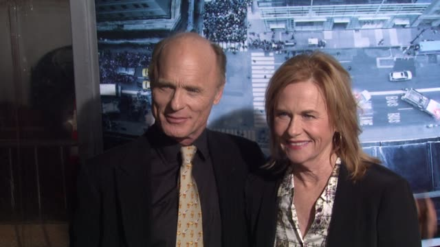 ed harris amy madigan at man on a ledge los angeles premiere on 1/23/12 in hollywood ca - amy madigan stock videos & royalty-free footage