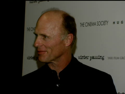 Ed Harris at the 'Winter Passing' New York Premiere at Tribeca Grand Screening Room in New York New York on February 15 2006