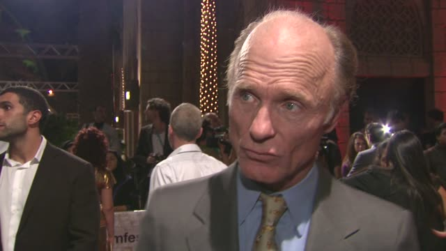 Ed Harris on being in Dubai on the story on capturing the essence of it on Saoirse Ronan at the The Way Back Gala Premiere 7th Dubai International...