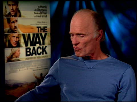 Ed Harris on being the 'thinking woman's' sex symbol at the 'The Way Back' Junket at Hollywood CA