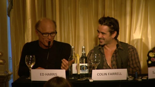 Ed Harris on his approach to his character and filming at the The Way Back Press Conference at London England