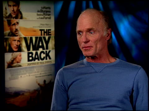 Ed Harris on on his character at the 'The Way Back' Junket at Hollywood CA