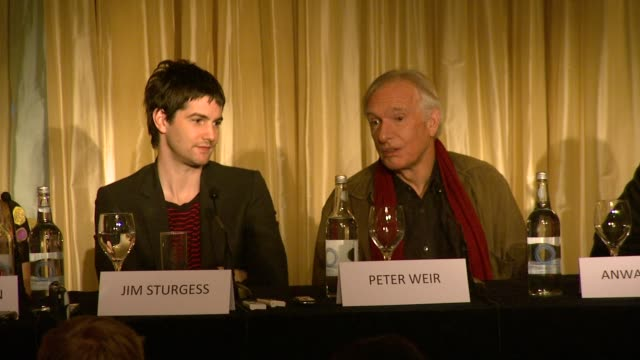 Ed Harris on the challenges of acting in a foreign accent at the The Way Back Press Conference at London England