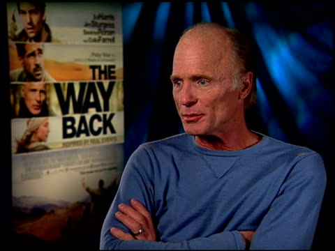 Ed Harris on working with director Peter Weir at the 'The Way Back' Junket at Hollywood CA