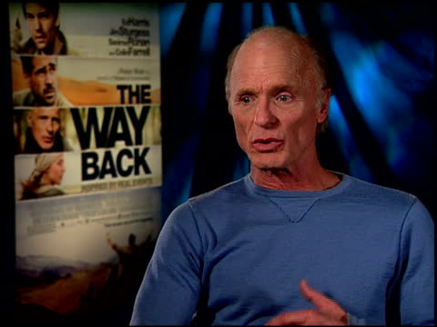 Ed Harris on working with the other cast members at the 'The Way Back' Junket at Hollywood CA