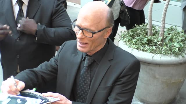 Ed Harris signs for fans outside the premiere of Netflix's Kodachrome at ArcLight Cinemas in Hollywood in Celebrity Sightings in Los Angeles