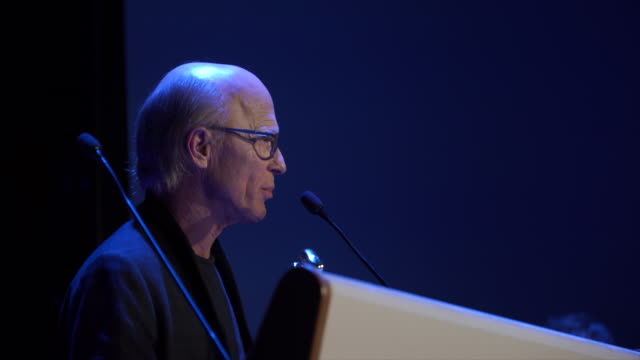 Ed Harris speaks about fake news during the Sitges Film Festival 2018 closing gala held at the Hotel Melia on October 13 2018 in Sitges Spain
