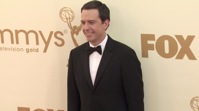 ed helms at the 63rd primetime emmy awards arrivals part 2 at los angeles ca - 63rd annual primetime emmy awards stock videos and b-roll footage