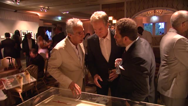 ed mady warren beatty brett ratner at the 100th anniversary celebration of the beverly hills hotel bungalows supporting the motion picture television... - beverly beatty stock videos & royalty-free footage