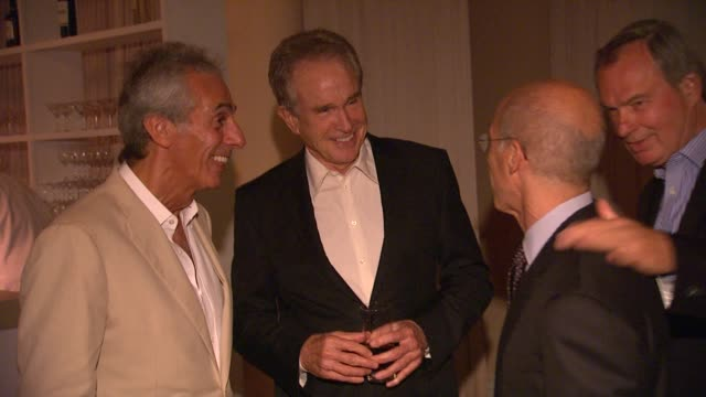 ed mady warren beatty jeffrey katzenberg at the 100th anniversary celebration of the beverly hills hotel bungalows supporting the motion picture... - beverly beatty stock videos & royalty-free footage