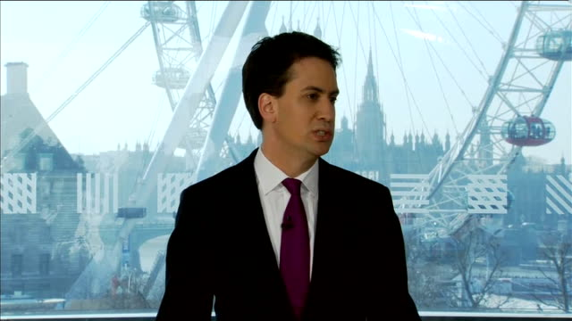 ed miliband comments on forthcoming budget england london royal festival hall int ed miliband mp speech sot they haven't been talking or arguing... - royal festival hall stock videos and b-roll footage