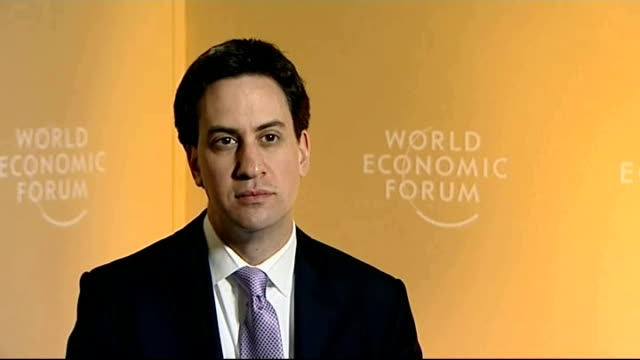 ed miliband interview in davos miliband interview sot on limits of political power i call that a failure of leadership on behalf of the prime... - paying taxes stock videos & royalty-free footage