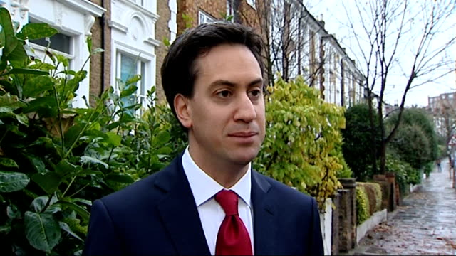 London EXT Ed Miliband MP interview SOT I think we owe it to the victims like the McCanns and the Dowlers to do the right thing and make change...