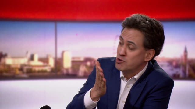 ed miliband on marr there is a grand canyon between boris johnson's rhetoric and reality - north america stock videos & royalty-free footage