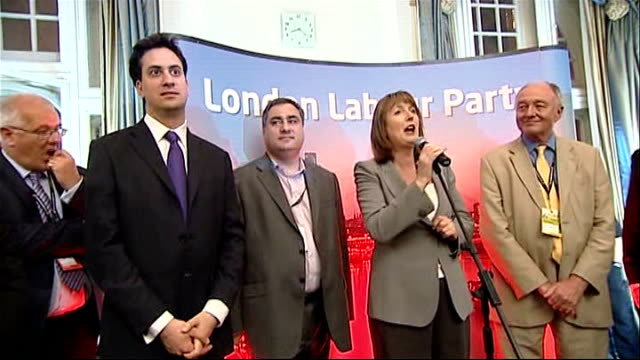 ed miliband profile; ext emily thronberry mp interview sot int harriet harman mp introducing ed miliband at 'london labour party' fringe meeting sot... - gerald scarfe stock videos & royalty-free footage