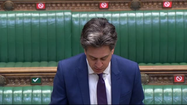 ed miliband returns to the front bench of the house of commons after being appointed to kier starmer's shadow cabinet. - shadow stock videos & royalty-free footage