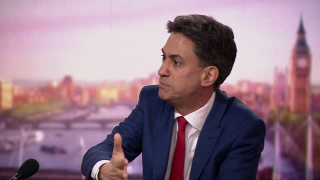 "ed miliband saying the he believes the uk government are willing to accept a no deal brexit because ""of some future theoretical threat that makes no... - document stock videos & royalty-free footage"