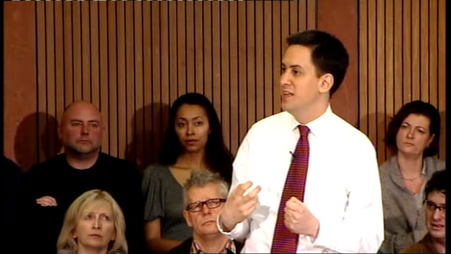 ed miliband speech and q and a session; ed miliband question and answer - q&a session sot - - part of our problem is precisely that the beveridge... - take that stock videos & royalty-free footage
