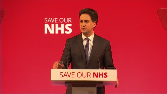 ed miliband speech at nhs rally miliband speech sot planned mansion tax and clamp down on tax avoidance 'time to care' fund upcoming elections tory... - avoidance stock videos & royalty-free footage