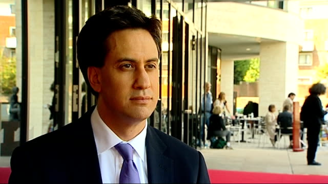 Ed Miliband speech at Which awards and interview Ed Miliband MP interview SOT Doctors strike We're not in favor of the strike and we ask the BMA to...