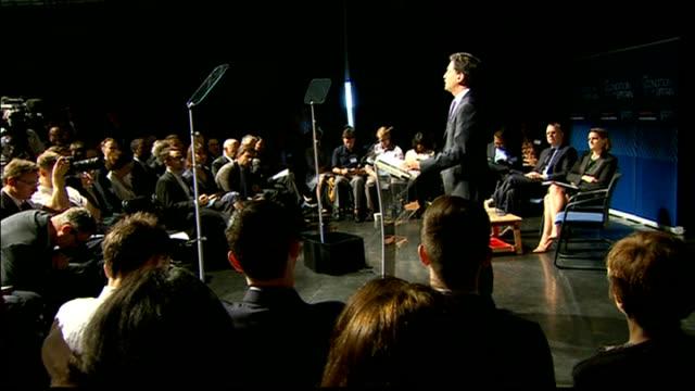 london bethnal green int ed miliband mp speech cutaways sot - bethnal green stock videos & royalty-free footage