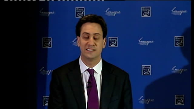 ed miliband speech to the royal society england london charing cross int ed miliband mp speech sot - charing cross stock videos and b-roll footage