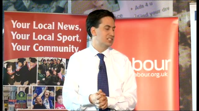 Ed Miliband takes part in QA session with readers of the Birmingham Mail Miliband speech SOT On the economy and government's plan for reducing the...