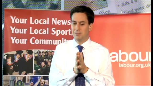 Ed Miliband takes part in QA session with readers of the Birmingham Mail Miliband answering questions SOT On care for the elderly / need an all party...