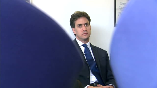 ed miliband visits cancer research unit miliband chatting to group of people / miliband along on ward and chatting to medical staff and looking at... - shirt and tie stock videos and b-roll footage