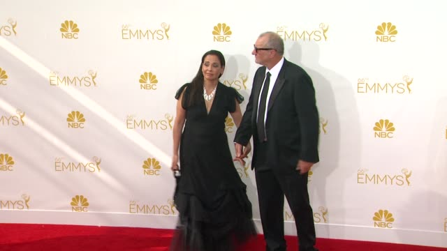 ed o'neill catherine rusoff at 66th primetime emmy awards arrivals in los angeles ca - catherine rusoff stock videos & royalty-free footage