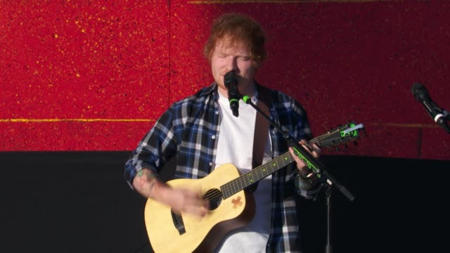 PERFORMANCE Ed Sheeran at 2015 Global Citizen Concert at Central Park on September 26 2015 in New York City