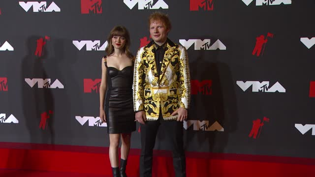 ed sheeranarrives at the 2021 mtv video music awards at barclays center on september 12, 2021 in the brooklyn borough of new york city. - mtv video music awards stock videos & royalty-free footage