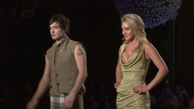 ed westwick and models walk the runway at the 7th annual 'dressed to kilt' charity fashion show at new york ny - dressed to kilt stock videos & royalty-free footage