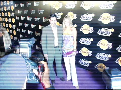 eddie cibrian and wife brandy at the la lakers and celebrities 2nd annual las vegas poker night at barker hangar in santa monica california on april... - barker hangar stock videos & royalty-free footage